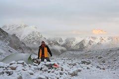 утро альпиниста Стоковые Фотографии RF