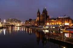 Утро Амстердама стоковое фото rf