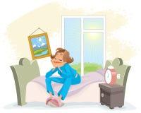 Утро будя женщину Стоковая Фотография RF
