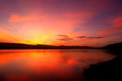 Утро восхода солнца на реке mekhong в Таиланде Стоковые Изображения