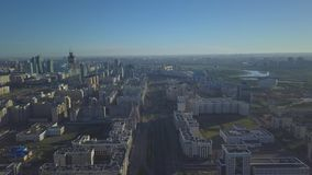 Утро в Астане Административная единица столицы Казахстана сток-видео