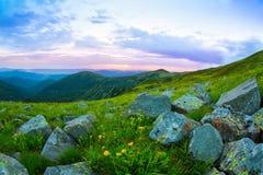 Утро в горах Стоковые Фото