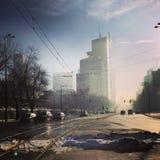 Утро в городе стоковое изображение