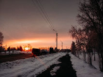 Утро в городе Стоковое Изображение RF