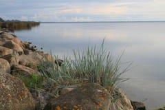 Утро в заливе шайбы, Польши стоковое изображение