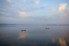 Утро в Amarapura, Мьянме Стоковые Изображения RF