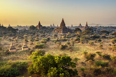 Утро в Bagan, Мьянме Стоковые Изображения RF