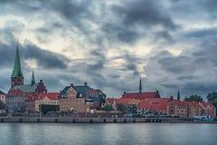 Утро городского пейзажа Helsingor стоковые изображения