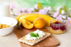 утро завтрака свежее Стоковая Фотография RF
