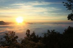 Утро захода солнца Стоковые Изображения RF