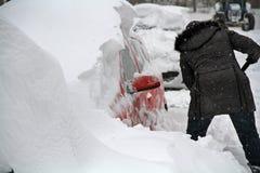 Утро зимы в Монреале стоковое изображение rf