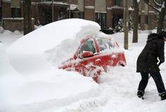 Утро зимы в Монреале стоковые изображения