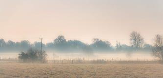 Утро зимы в сельской местности Стоковые Фотографии RF