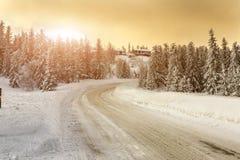 Утро зимы в Telemark Норвегии Стоковое Изображение RF