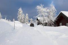 Утро зимы в Telemark Норвегии Стоковая Фотография RF