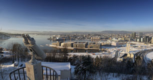 Утро зимы горизонта Осло Стоковое Изображение RF
