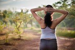 утро индейца девушки тренировки Стоковое Изображение RF