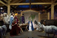 Утро и рождество рождества на квадрате собора Стоковое фото RF