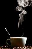 утро кофе горячее Стоковые Изображения RF