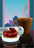 утро кофе торта Стоковое фото RF