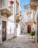 Утро лета в Martina Franca, провинции Таранта, Apulia, южной Италии Стоковое Фото