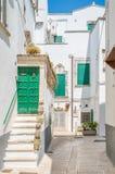 Утро лета в Martina Franca, провинции Таранта, Apulia, южной Италии Стоковые Изображения RF
