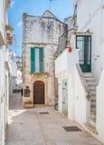 Утро лета в Martina Franca, провинции Таранта, Apulia, южной Италии Стоковая Фотография