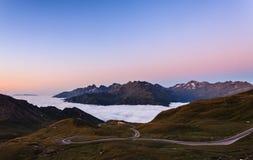 Утро над облаками Стоковые Изображения RF