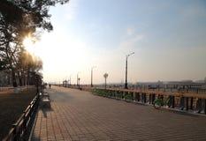 Утро на автостоянке велосипеда Стоковое фото RF