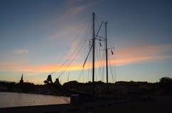 Утро на гавани Стоковое Изображение