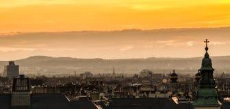 Утро над городом Стоковое Изображение