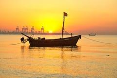 Утро на Желтом море. Стоковое Изображение