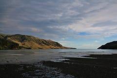 Утро на заливе голубя, полуострове банков Стоковое фото RF