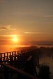 Утро на моле Стоковое Изображение