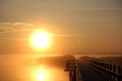 Утро на моле Стоковое Фото