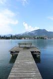 Утро на озере в Баварии стоковая фотография rf