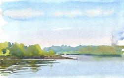 Утро на озере Стоковые Фотографии RF