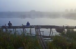 Утро на озере Стоковое Изображение RF