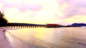 Утро на пляже kohrong стоковые изображения rf