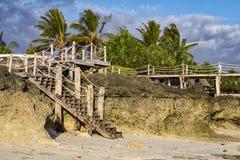 Утро на побережье океана Деревня Nungwi zanzibar стоковая фотография rf