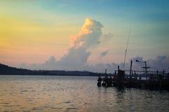 Утро на пристани Стоковые Фотографии RF