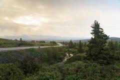 Утро на плато, Норвегия Стоковые Изображения RF