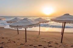 Утро на пляже Стоковые Изображения RF