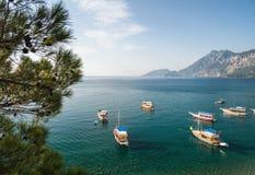 Утро на среднеземноморском побережье Стоковые Изображения RF