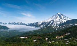 Утро около вулкана Стоковые Изображения RF