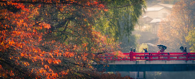 Утро осени в takayama Стоковая Фотография RF