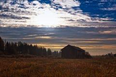 Утро осени на полях Стоковая Фотография RF