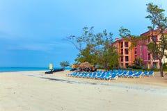 утро пляжа предыдущее пустое Стоковая Фотография