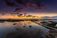 Утро пляжа Стоковые Изображения RF