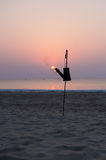 Утро пламени восхода солнца стоковое изображение